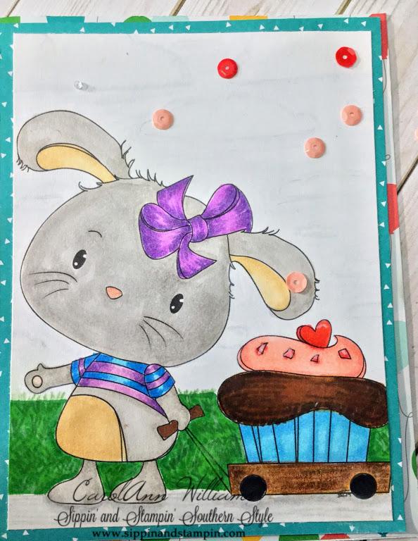 Di's Digi Stamp - Bunny wagon